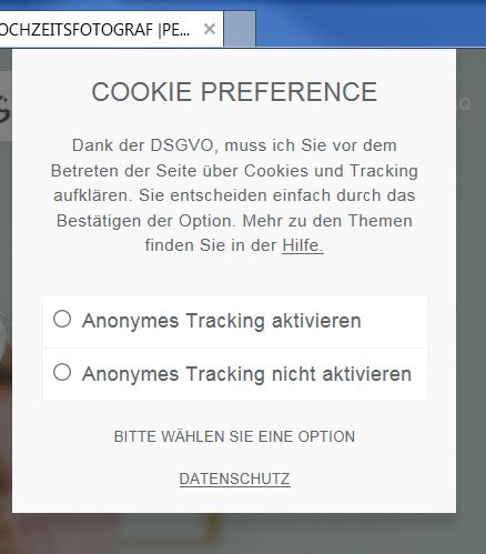 Opt-In-Abfrage-Homepage-Dsgvo
