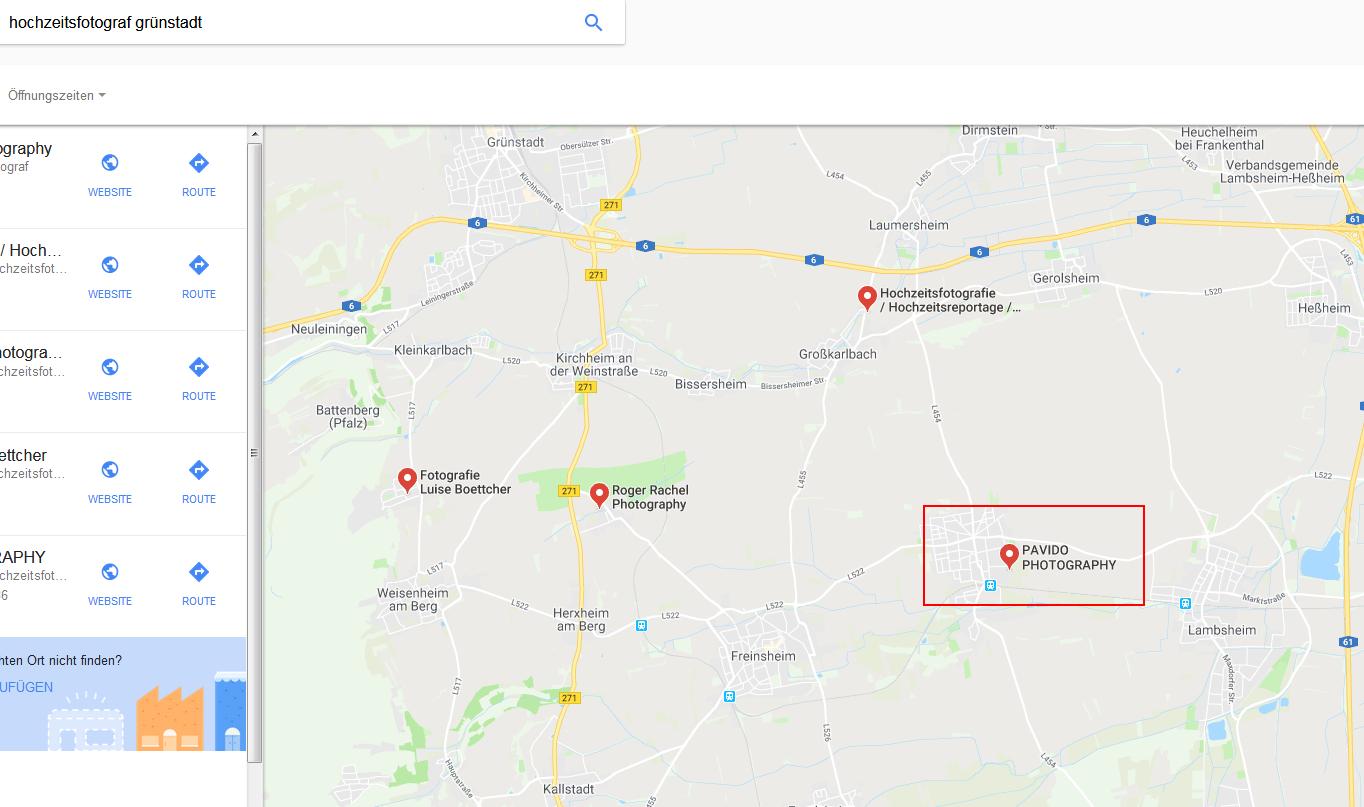 google-Maps-Suche-Seo