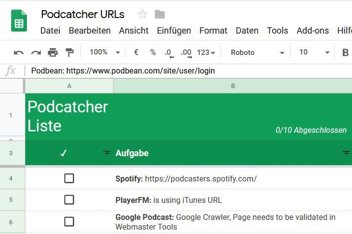 Wo muss ich meinen Podcast eintragen?