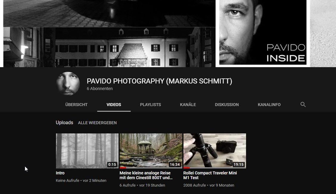 Mein YouTube Kanal ist eröffnet